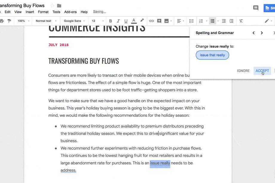 Google Docで文法チェック
